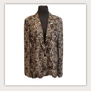 The Kooples Cheetah Animal Print Blazer Jacket L